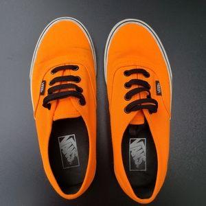 Vans neon orange woman's 7